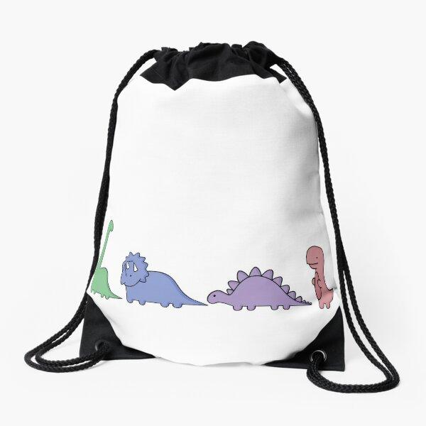 Dinosaur Illustrations Drawstring Bag