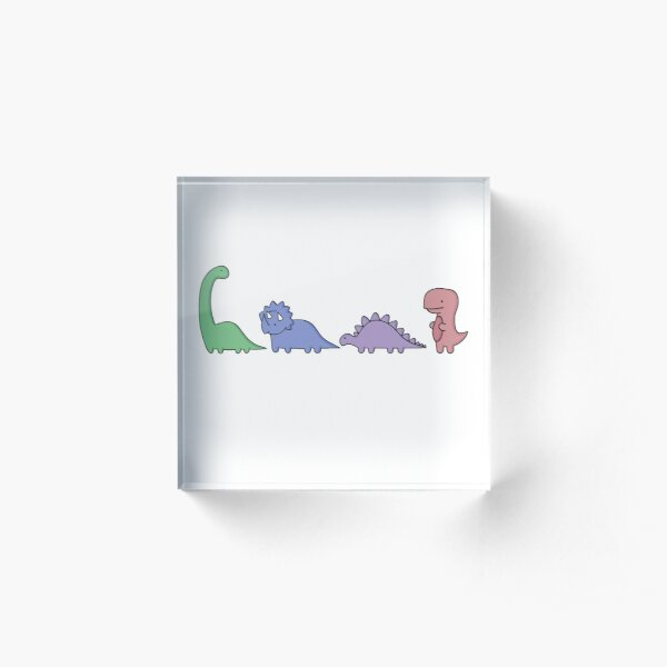 Dinosaur Illustrations Acrylic Block