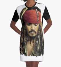 Captain Jack Sparrow Graphic T-Shirt Dress