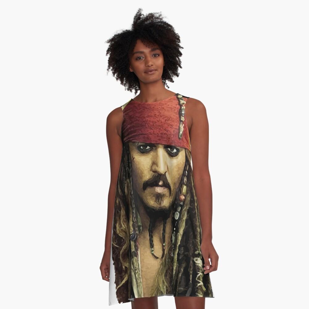 Captain Jack Sparrow A-Linien Kleid