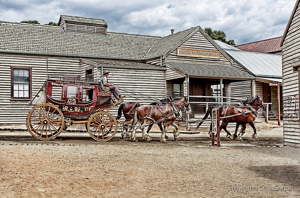 Cobb & Co - Sovereign hill by Samantha Cole-Surjan