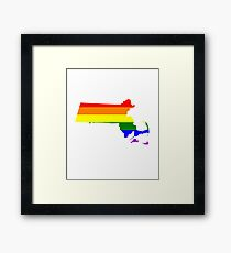 Love Equality Shirts and Gifts - Massachusetts LGBTQ Rainbow Pride Adult Framed Print