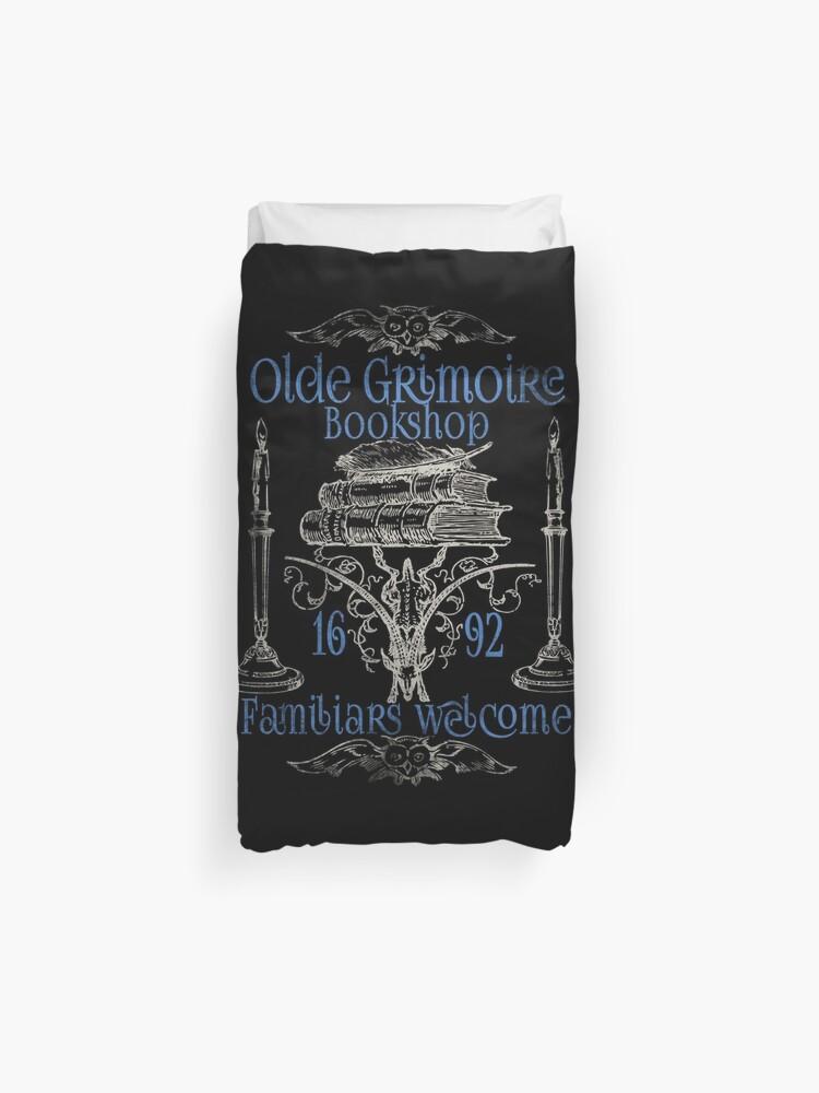 Wiccan Witch Pagan Grimoire Bookshop Design | Duvet Cover