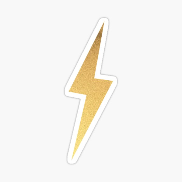 Gold Foil Lightning Bolt Sticker