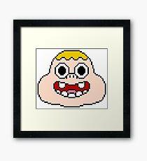 Pixel Clarence Framed Print