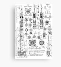 Soyuz Capsule Blueprint Canvas Print