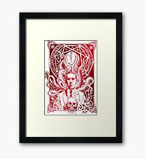 Lovecraft Cthulhu Red Framed Print