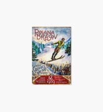 Romania, winter, ski, sport, vintage travel poster Art Board