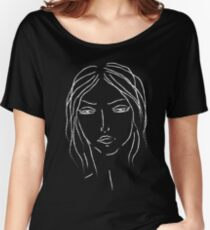 girl sketch Women's Relaxed Fit T-Shirt