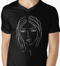 girl sketch Men's V-Neck T-Shirt