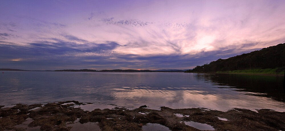 Sunset over the bay by Steve D