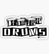 Label Me A Tenor Drum (Black Lettering) Sticker