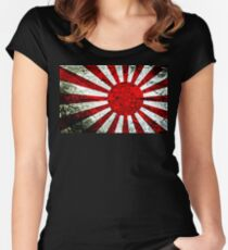 nippon flag Women's Fitted Scoop T-Shirt