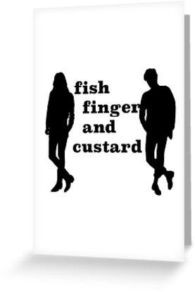 Fish finger and custard by Irenuccia