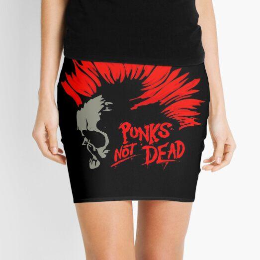 Punks not dead Skull Mini Skirt
