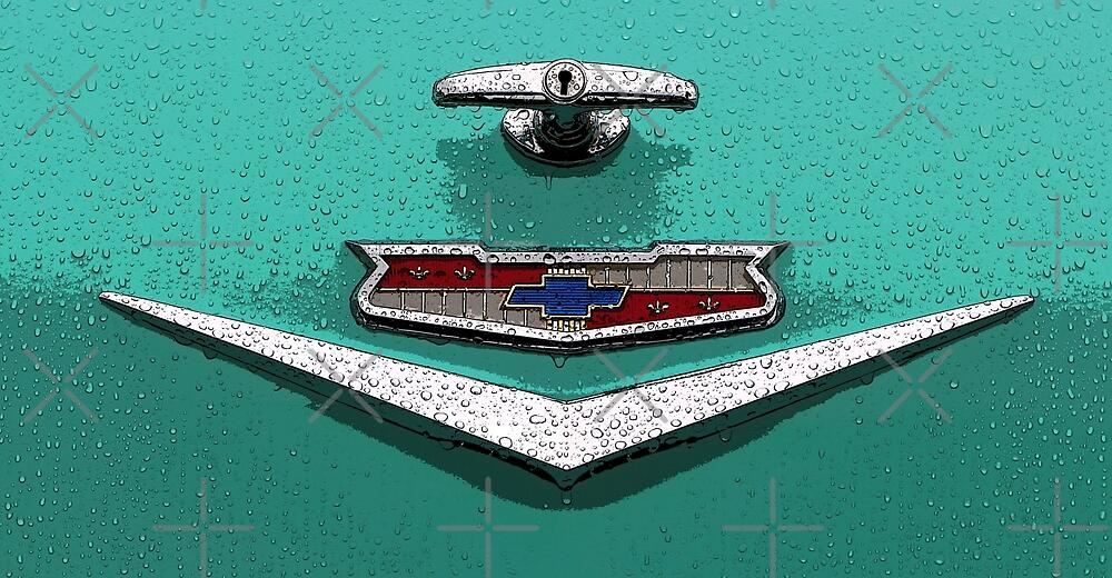 Antique Classic Car Chevy Chevrolet Trunk Emblem by Havocgirl