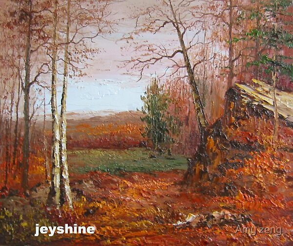 100% handmade  high quality oil painting landscape on Canvas by Amy zeng