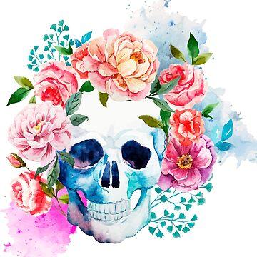Flower Skull by byruit