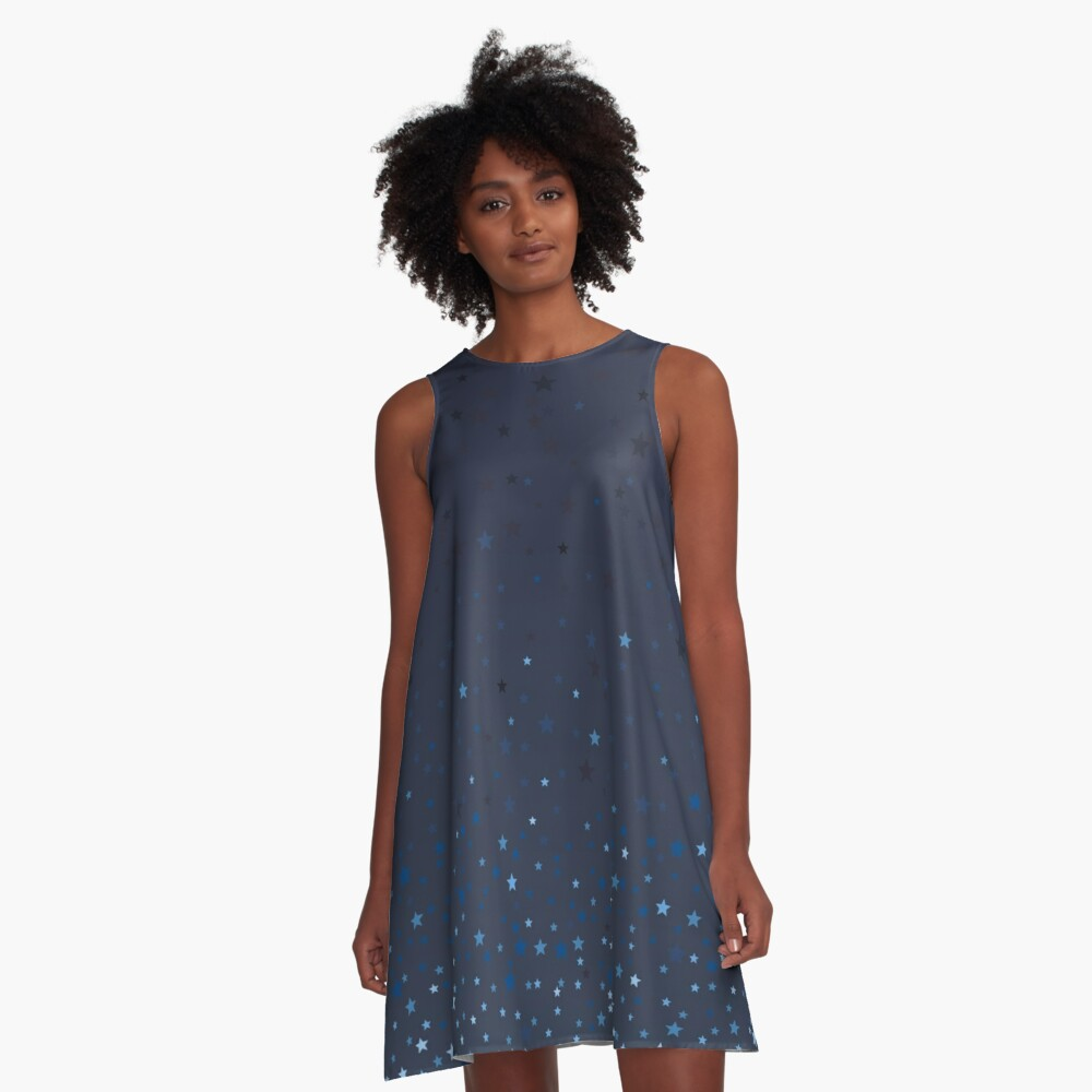 Starry Night A-Line Dress