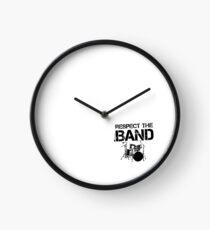 Respect The Band - Drum Set (Black Lettering) Clock