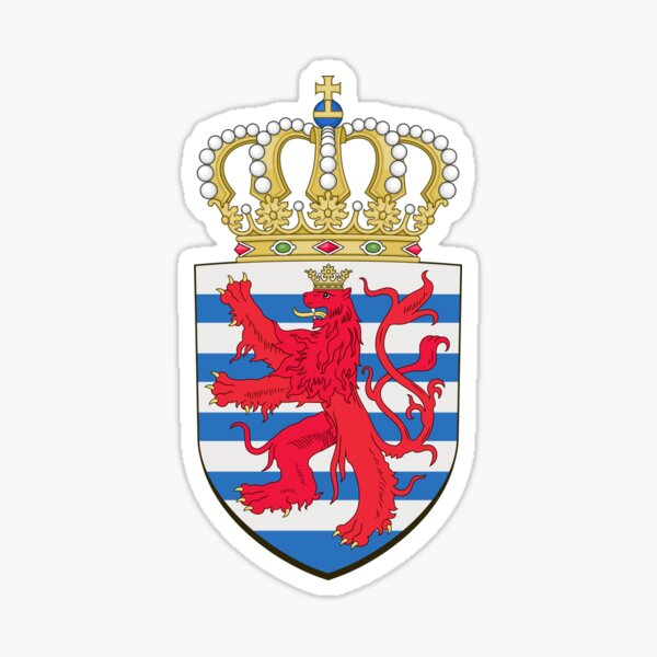 Luxembourg, coat of arms Sticker