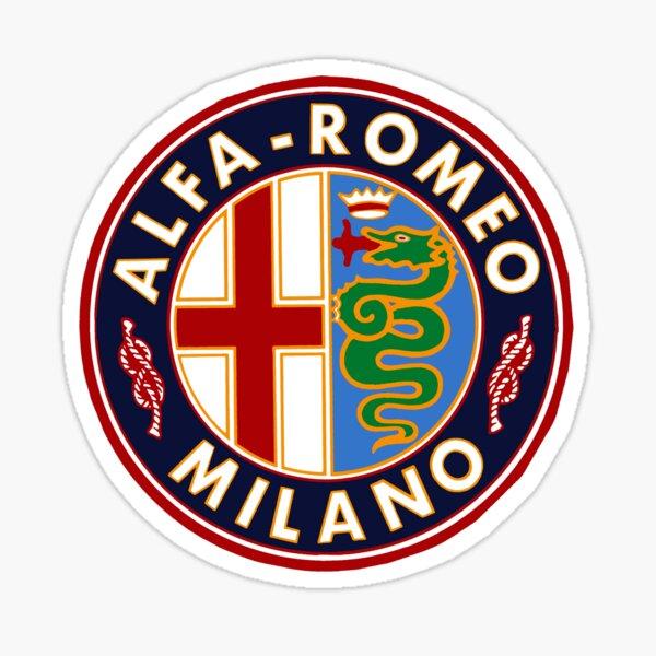Letrero de coche clásico antiguo Alfa-Romeo Pegatina