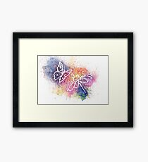 A Simple Flower and a Butterfly Framed Print