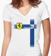 Kimi Raikkonen | Ferrari Women's Fitted V-Neck T-Shirt
