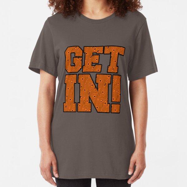 Get In! Tiger Stripe Swirl Slim Fit T-Shirt