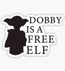 Dobby is a free elf - Type 2 Sticker