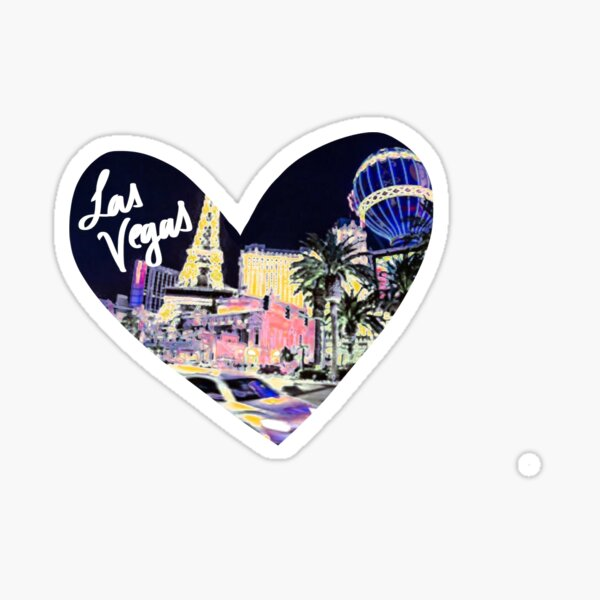 Las Vegas - Neon Heart Sticker
