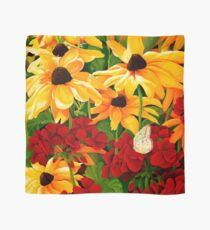 Sunflowers and Geraniums Scarf