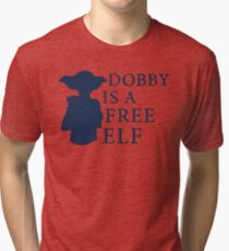 Dobby is a free elf - Type 2 Tri-blend T-Shirt