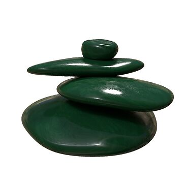 Green balancing stones by Deanora
