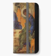 Holy Trinity by Rublev iPhone Wallet