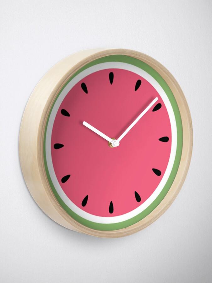 Alternate view of Watermelon Clock Clock