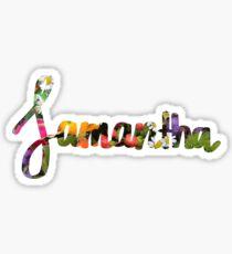 Samantha - Floral Sticker