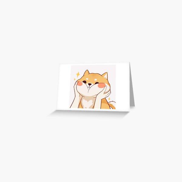 Kawaii Shiba inu Greeting Card