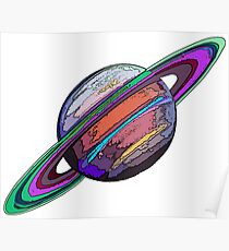 Saturn:  The Ringed Planet Poster