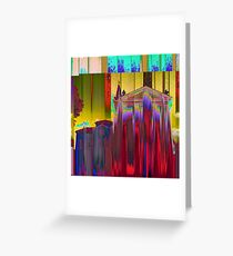 The Melting Church - Rationalized faith structures, study n.10 Greeting Card