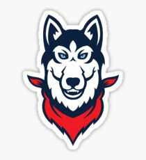 Red Bandana Husky Logo Sticker
