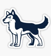 Husky Dog Logo Sticker