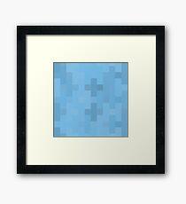 Sky Blue Plus Signs Framed Print