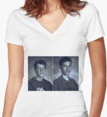 Dylan Klebold and Eric Harris Women's Fitted V-Neck T-Shirt