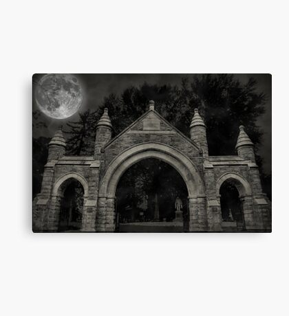 Easton Cemetery Canvas Print