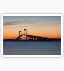 Newport Bridge Sunset, Rhode Island Sticker