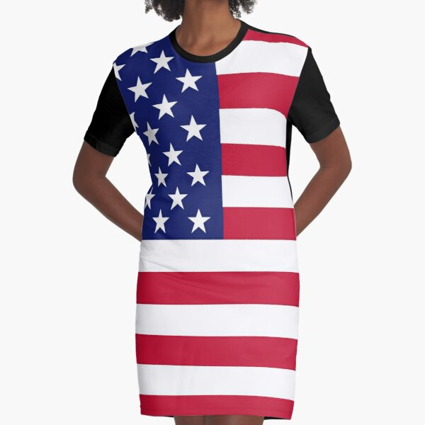 American flag Graphic T-Shirt Dress