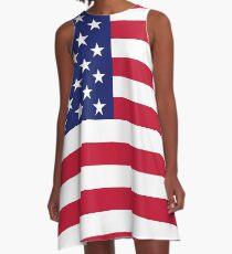 Vestido acampanado bandera estadounidense