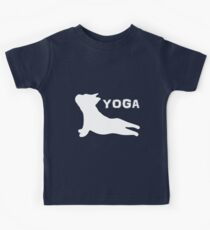 French Bulldog Yoga Puppy- Pet Lover, Awesome Dog Silhouette Kids Clothes