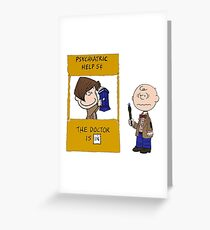 Doctor, WHO? Greeting Card